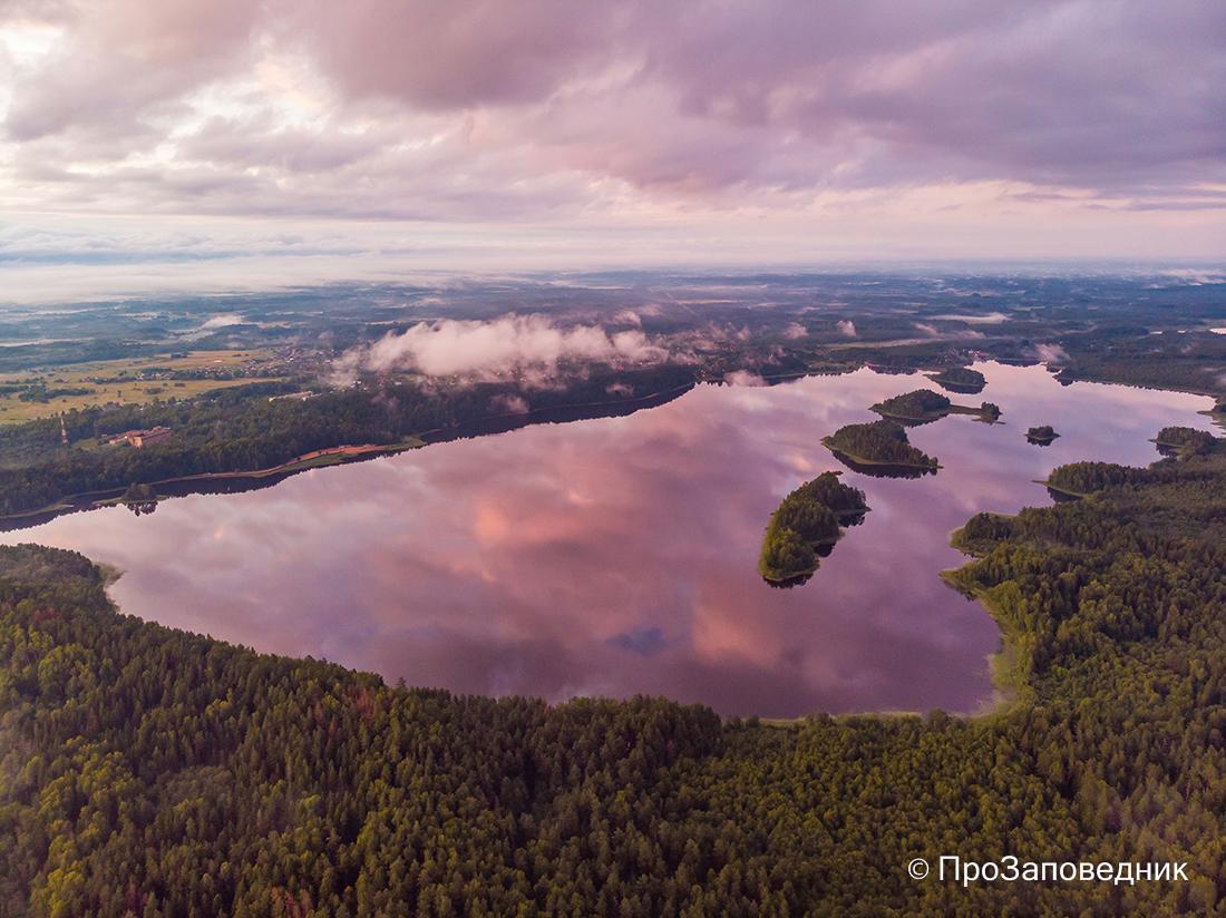 Озеро Сапшо на закате. Смоленское Поозерье