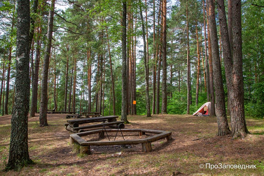 Оборудованная стоянка для палаток и пикников