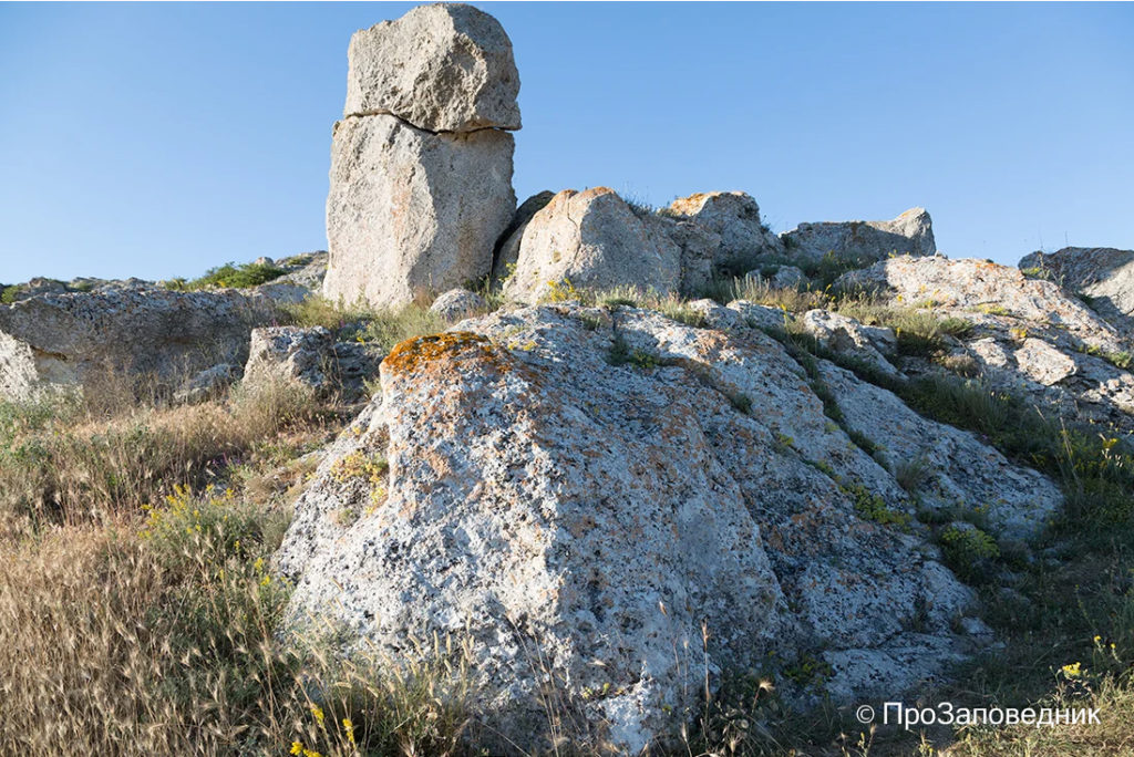 Казантипский заповедник. Каменный останец