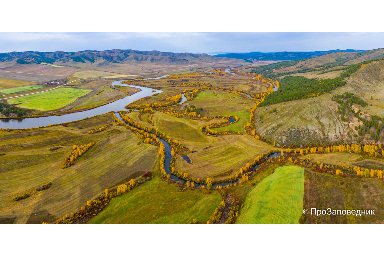 Долина реки Хилок, граница Алтачейского заказника.